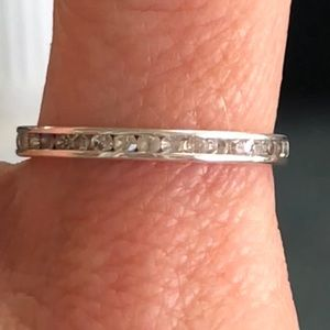 925 Sterling Silver Eternity Band
